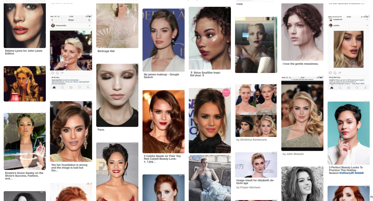 hair and make up moodboard how to prepare for your wedding hair and make up trial