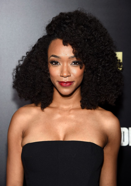 sonequa martin green make up afro hair