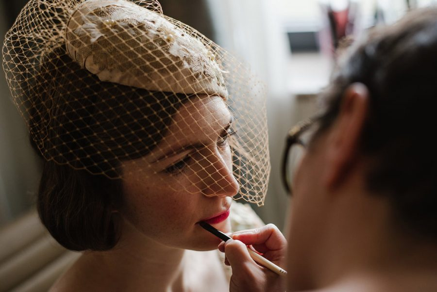 vintage 1930s inspired wedding hair and makeup by surrey hampton court makeup artist kylie mcmichael