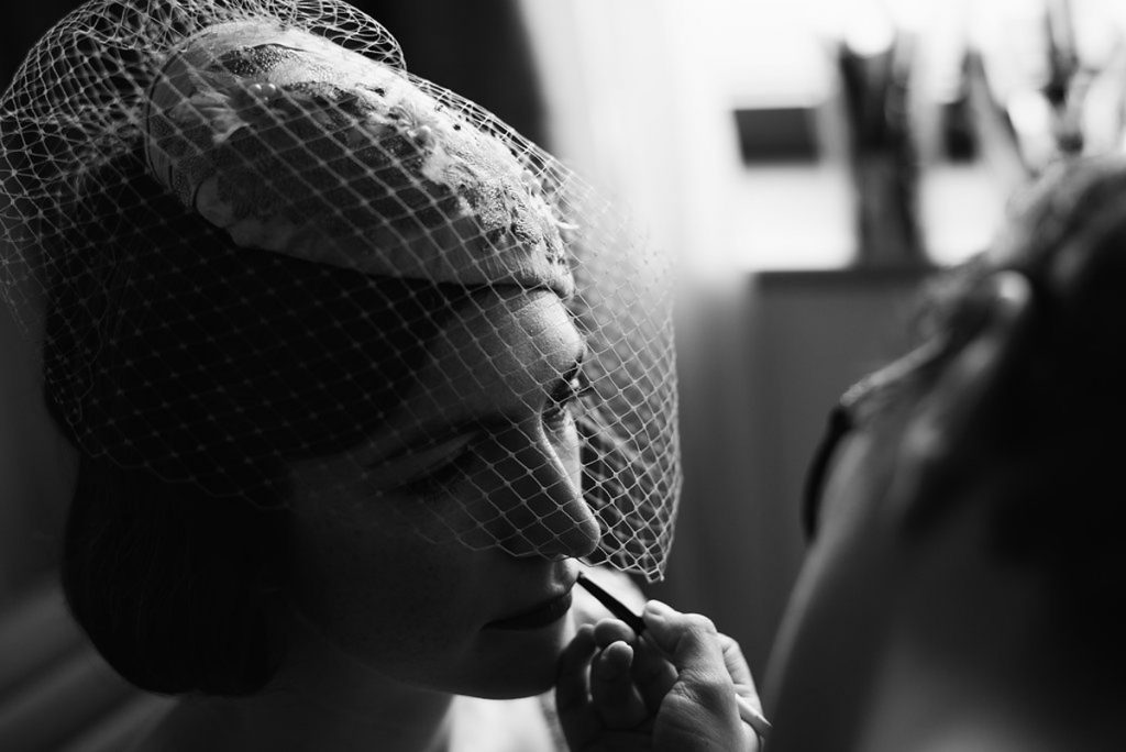 vintage wedding hair and makeup for 1930s london bride surrey hampton court wedding artist kylie mcmichael