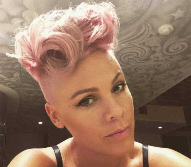 pink alicia moore hair style shaved hair natural pretty makeup androgynous