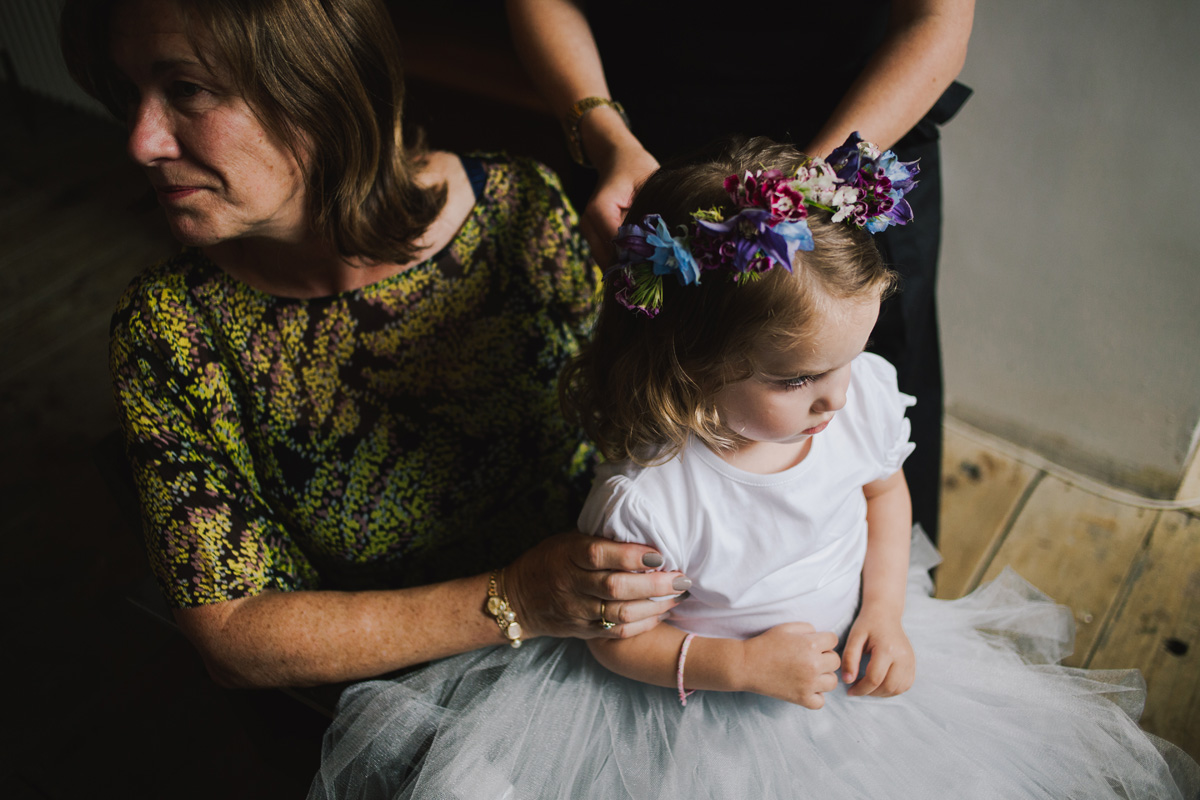 bridesmaid flower girl hair flower crown inspiration