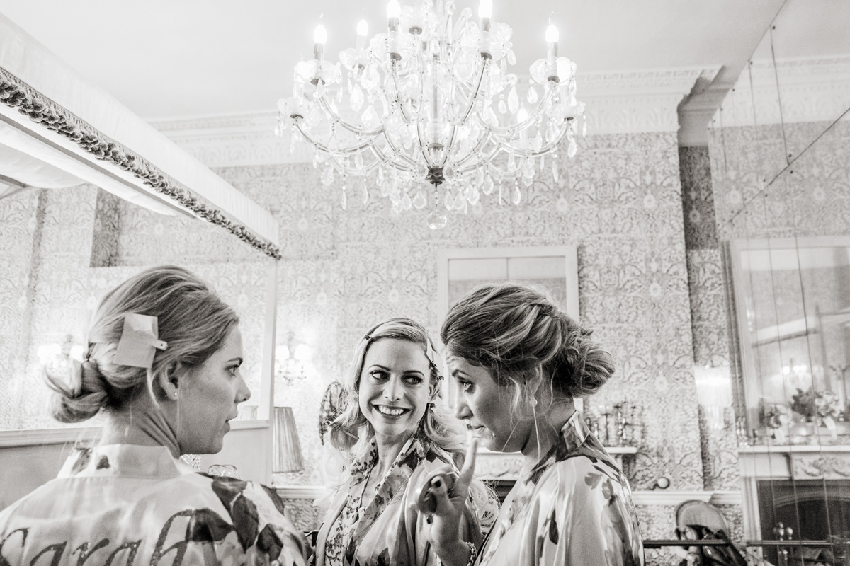 bridal prep babington house wedding modern natural bridesmaid hair up and makeup artist london richmond surrey