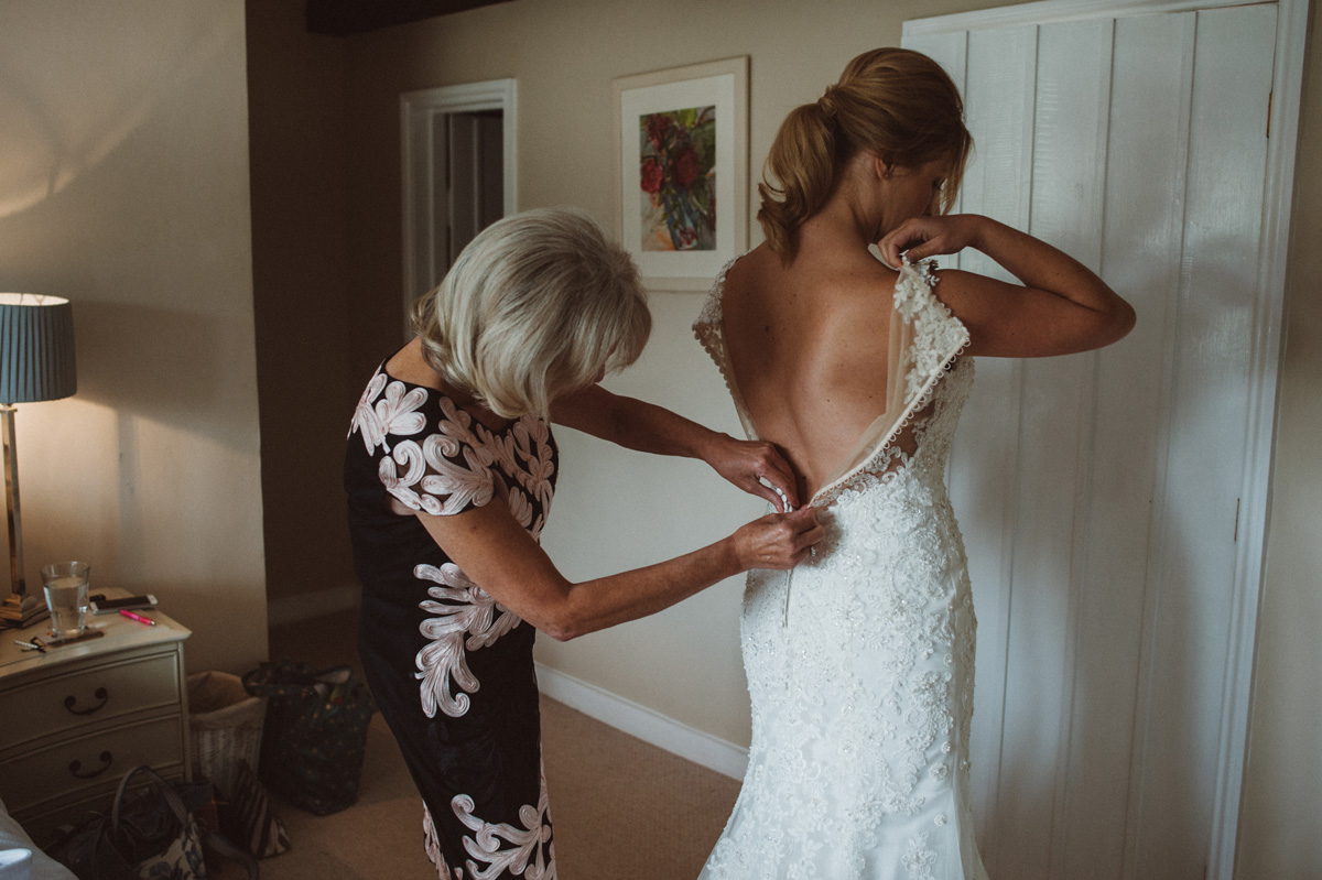 sixties inspired ponytail blonde hair bride natural skin soft contoured eye makeup kylie mcmichael surrey london country wedding