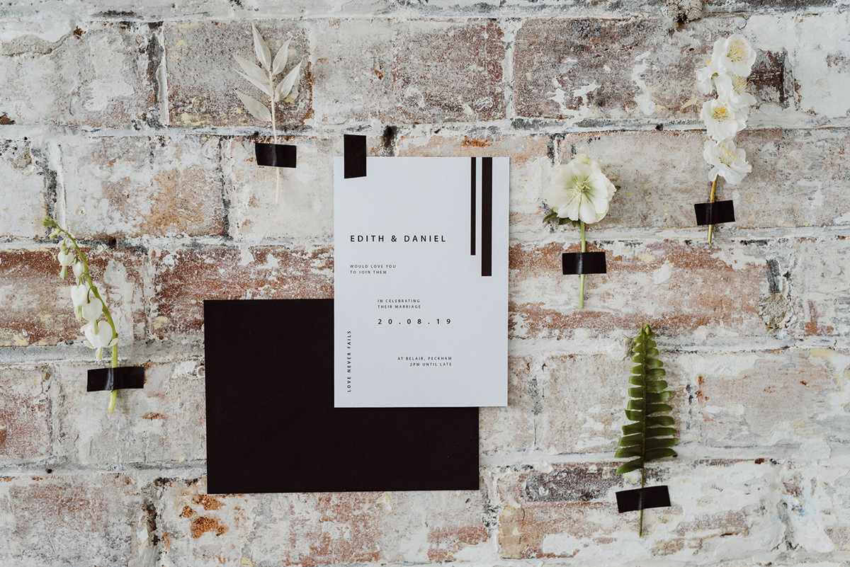 Modern Minimalist Bride Aimee Willow Design stationery