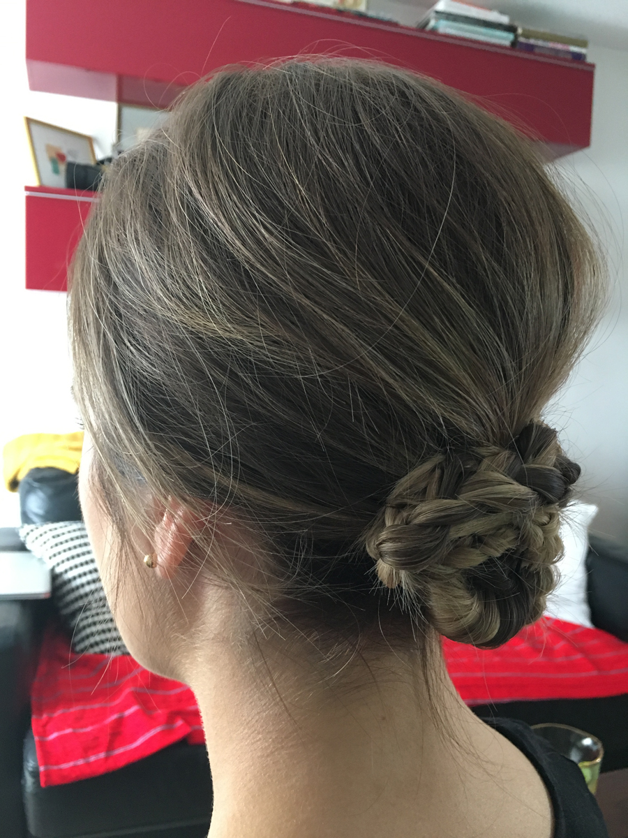 plait knot twist detail low bun wedding hair style london middlesex surrey berkshire hampshire