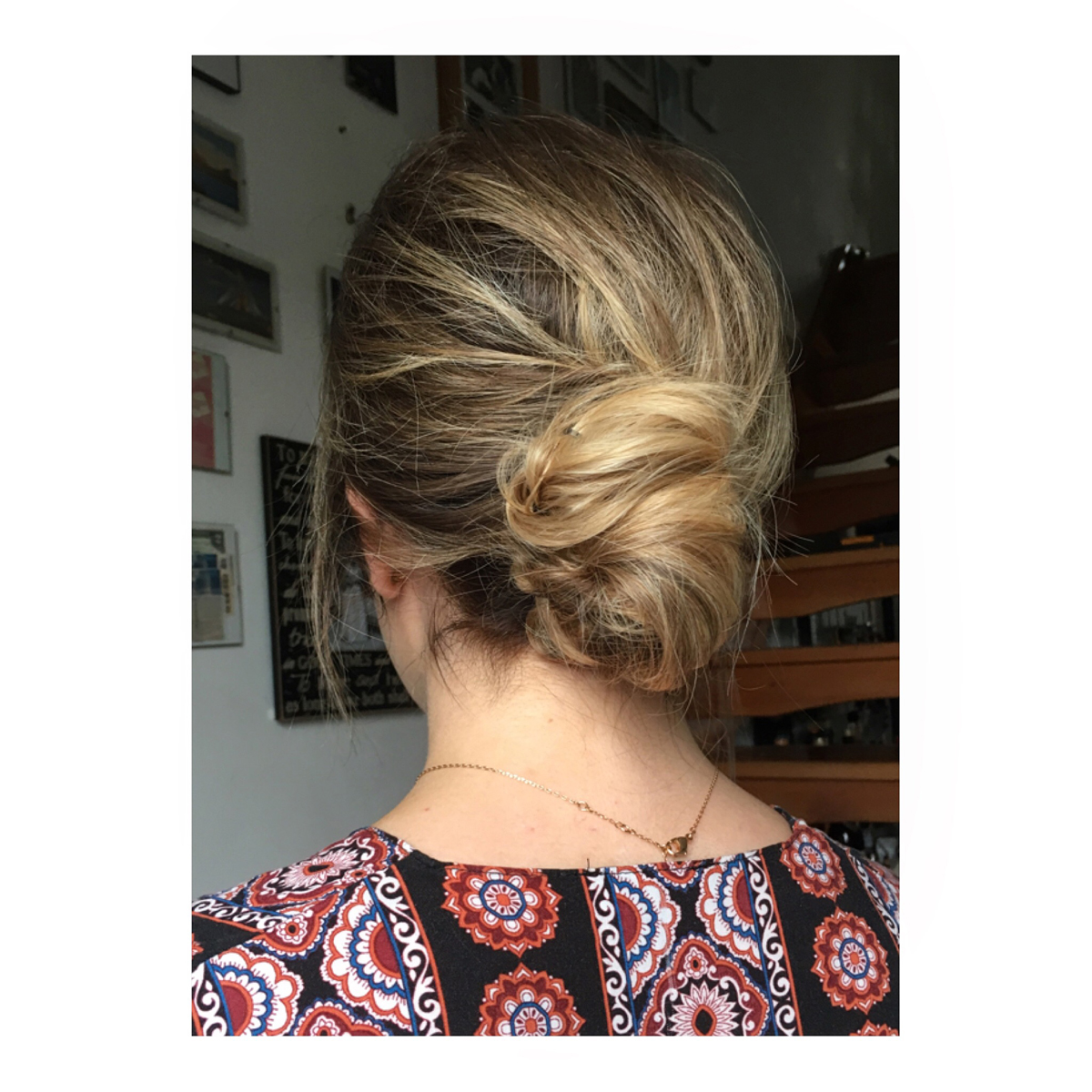 textured low bun wedding updo hair style london surrey middlesex  hampshire berkshire