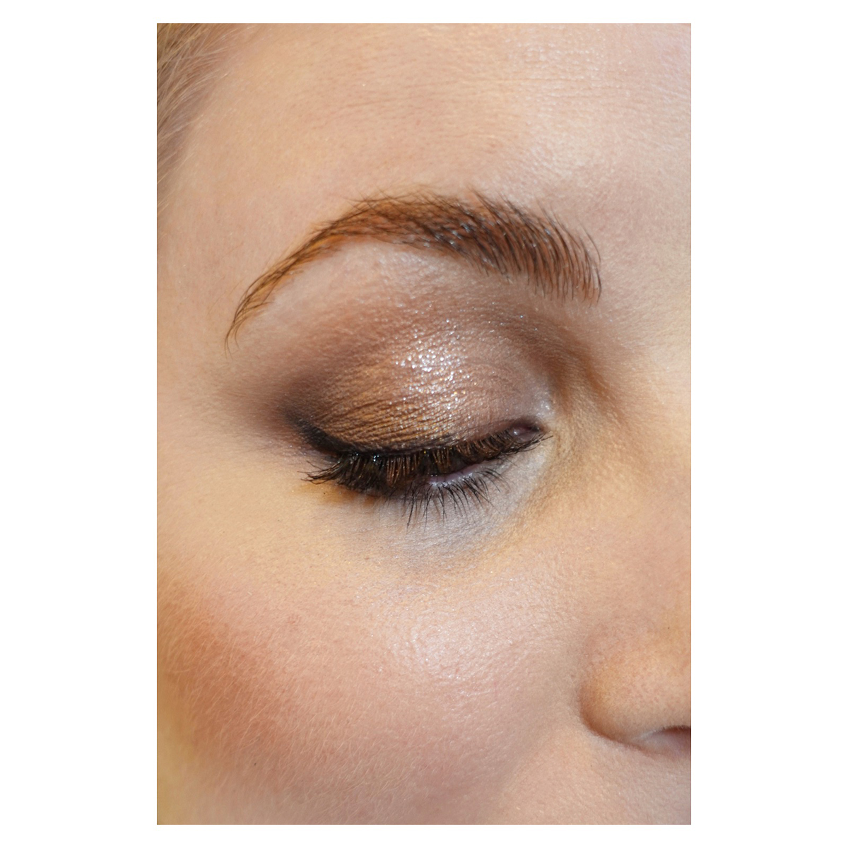 taupe shimmery eye makeup natural cystic hormonal acne coverup